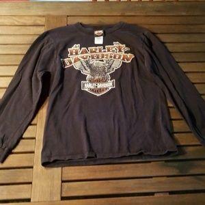 Harley-Davidson long sleeved shirt, black, small